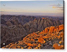 View From Mount Sinai Acrylic Print by Ivan Slosar