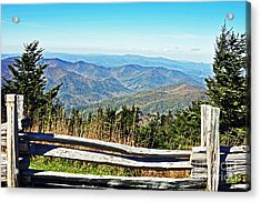 View From Mt. Mitchell Summit Acrylic Print