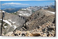 View From Mt Sherman Summit Acrylic Print by Claudette Bujold-Poirier