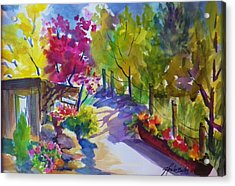 View From My Studio Door Acrylic Print by Therese Fowler-Bailey