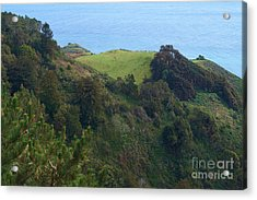 View From Nepenthe In Big Sur Acrylic Print by Charlene Mitchell