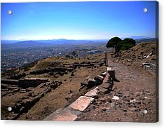 View From Pergamum Acropolis Acrylic Print by Jacqueline M Lewis