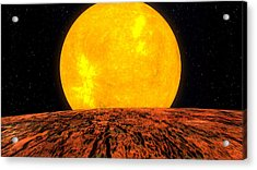 View From Planet Kepler 10b Acrylic Print by Movie Poster Prints