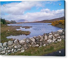 Acrylic Print featuring the photograph View From Quiet Man Bridge Oughterard Ireland by Charles Kraus