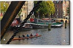 'skinny Bridge' Amsterdam Acrylic Print by Cheryl Miller