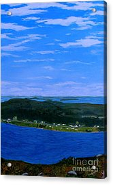 View From Sugarloaf Hill Ship Harbour Center Acrylic Print by Barbara Griffin