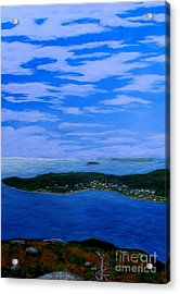 View From Sugarloaf Hill Ship Harbour Cove Acrylic Print by Barbara Griffin