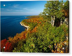View From Sven's Bluff Acrylic Print by Chuck De La Rosa