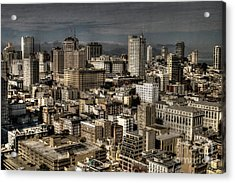 View From The 31st. Floor Acrylic Print by Sylvia Blaauw