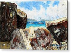 View Of Devil's Bay Acrylic Print