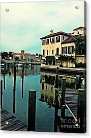 View From The Boardwalk 3 Acrylic Print by K Simmons Luna