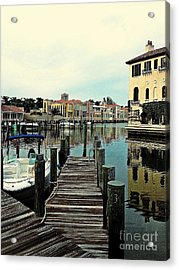 View From The Boardwalk 2 Acrylic Print by K Simmons Luna