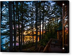 View From The Deck Acrylic Print by Karen Stephenson