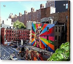 View From The Highline Acrylic Print by Ed Weidman