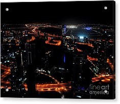 View From The Jw Marriott Marquis Dubai Hotel Acrylic Print by Graham Taylor