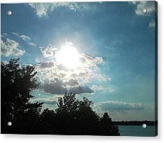 View From The Lake Acrylic Print by Tina Murray