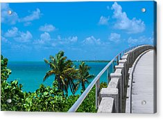 View From The Old Bahia Honda Bridge Acrylic Print