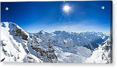 View From Titlis Mountain Towards The South Acrylic Print by Carsten Reisinger
