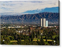 View From Universal Studios Hollywood Acrylic Print by Heidi Smith