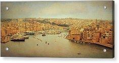 View From Upper Barakka, Valletta, Malta Acrylic Print