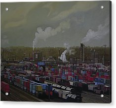 View From Viaduct Acrylic Print by Thu Nguyen