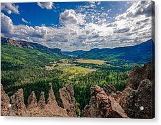 View From Wolf Creek Pass Acrylic Print by Karen Stephenson
