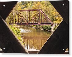 View From Worrall Covered Bridge Acrylic Print