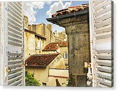 View In Cognac Acrylic Print by Elena Elisseeva