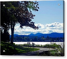 View In Victoria B C Canada Acrylic Print by Gena Weiser