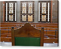 View Into Courtroom From Judges Chair Acrylic Print by Ken Biggs