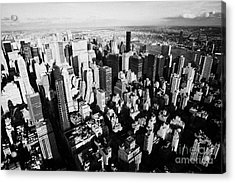 View North East Of Manhattan Queens East River From Observation Deck Empire State Building Acrylic Print by Joe Fox