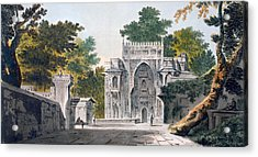 View Of A Mosque At Chunar Gur Acrylic Print by William Hodges
