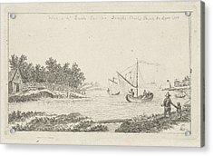 View Of A River, Charles Joseph Emmanuel De Ligne Acrylic Print by Charles Joseph Emmanuel De Ligne And Barsch