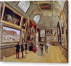 View Of A Room In The Musee Du Luxembourg In Paris In 1883-85 Oil On Canvas Acrylic Print