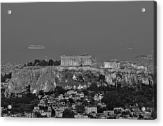 View Of Acropolis From Lycabettus Hill During Dawn Acrylic Print by George Atsametakis