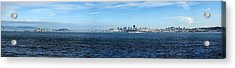 View Of Alcatraz Island And San Acrylic Print by Panoramic Images