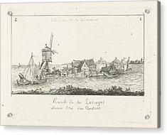 View Of An Island, Print Maker Charles Joseph Emmanuel De Acrylic Print by Charles Joseph Emmanuel De Ligne