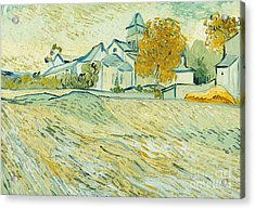 View Of Asylum And Saint-remy Chapel Acrylic Print by Vincent van Gogh