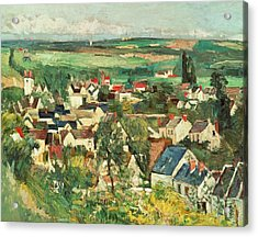 View Of Auvers From Above Acrylic Print by Paul Cezanne