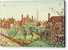 View Of Bedford Park Acrylic Print by English School
