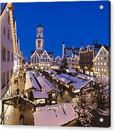 View Of Christmas Fair At St. Martins Acrylic Print by Panoramic Images