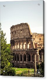 View Of Colosseum Acrylic Print