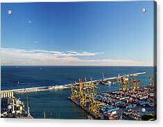 View Of Commercial Port, Barcelona Acrylic Print