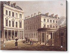 View Of Cross Bath, Bath Street Acrylic Print by John Claude Nattes