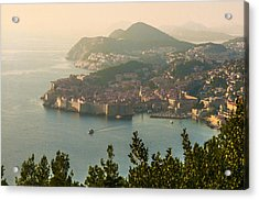 View Of Dubrovnik Peninsula Acrylic Print