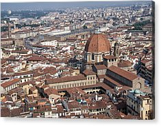 View Of Florence From Brunelleschi's Dome Acrylic Print by Melany Sarafis