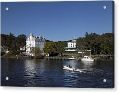 View Of Goodspeed Opera House In East Haddam  From The Connecticut Rive Acrylic Print
