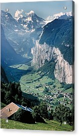 Amazing View Of Swiss Valley Acrylic Print by Carl Purcell