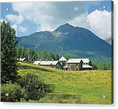View Of Houses And Mountain Acrylic Print
