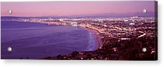 View Of Los Angeles Downtown Acrylic Print by Panoramic Images